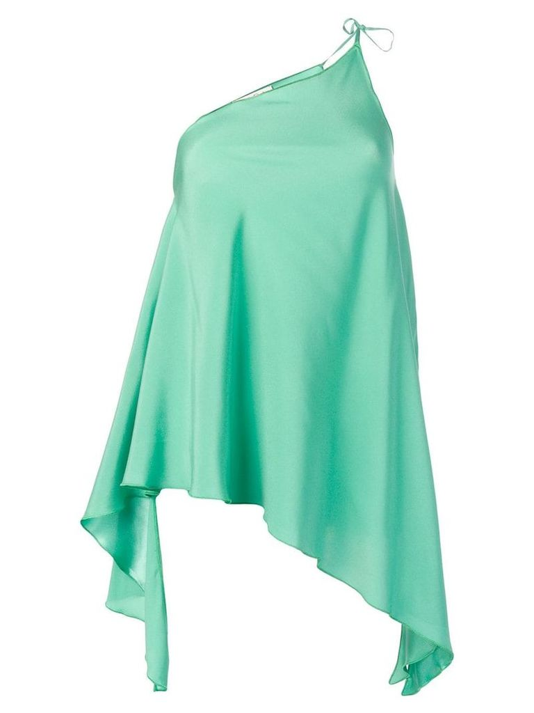 Danielapi one shoulder draped top - Green