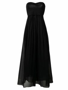 Forte Forte strapless flared dress - Black