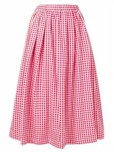 Comme Des Garçons Girl gingham full skirt - Red