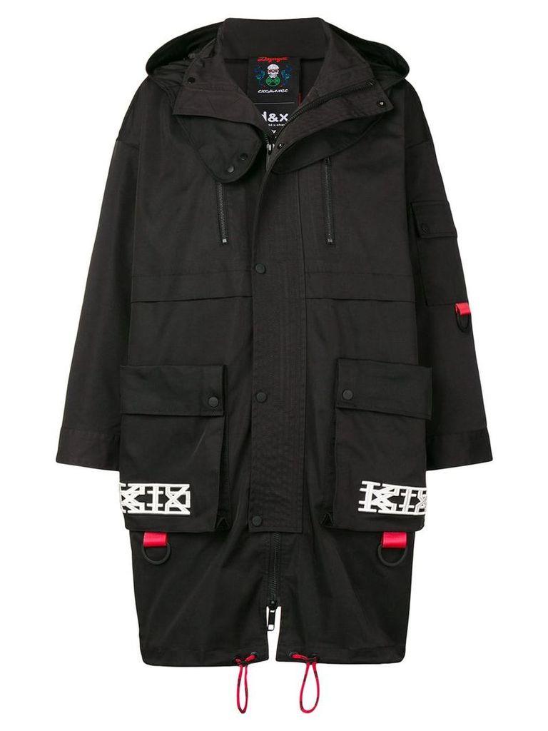 KTZ hooded skull coat - Black
