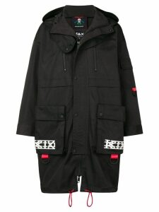 KTZ hooded skull coat - Black
