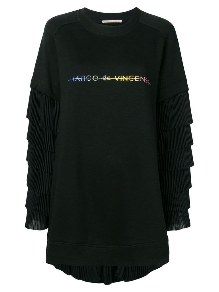 Marco De Vincenzo oversized pleated sweatshirt - Black