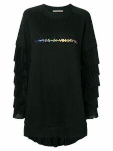 Marco De Vincenzo oversized pleated sweatshirt - Black