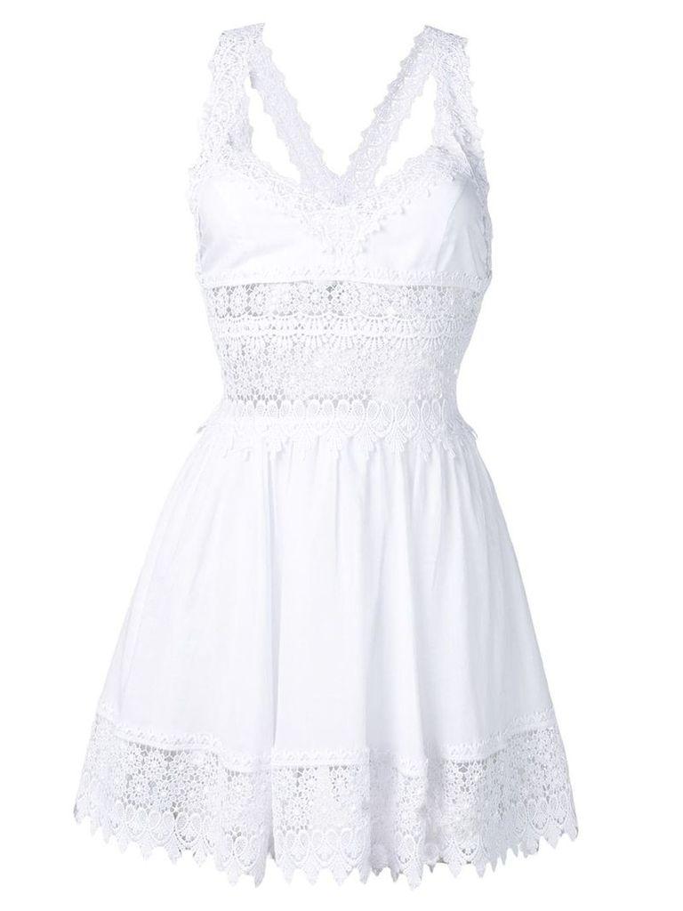 Charo Ruiz lace panel dress - White
