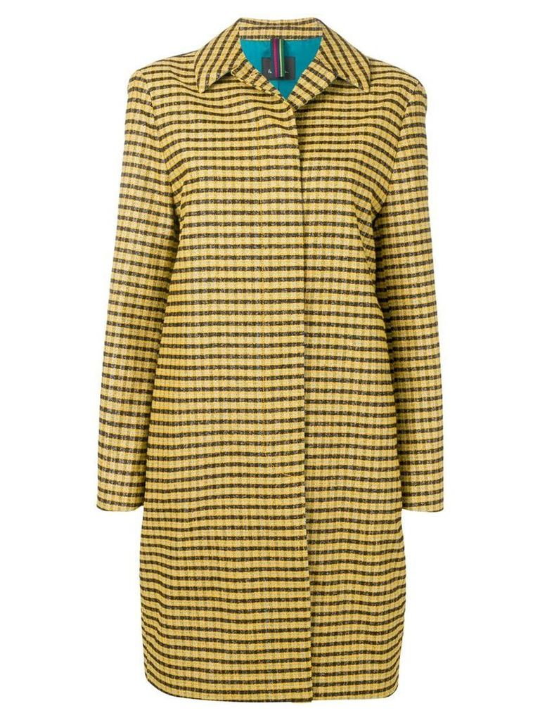 PS Paul Smith fitted checked coat - Yellow