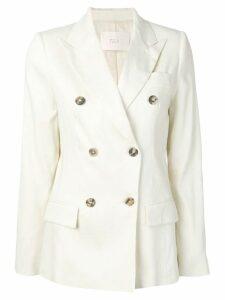 Tela double breasted blazer - White