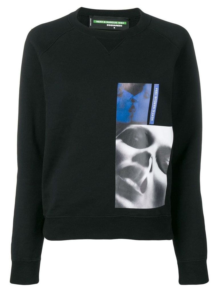 Dsquared2 X Mert and Marcus printed patch sweatshirt - Black