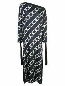 Monse large chain print dress - Blue
