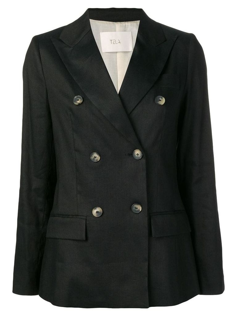 Tela double breasted blazer - Black