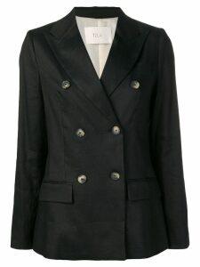 Tela double breasted blazer - Black