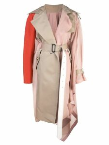 Sacai asymmetrical trench coast - Pink