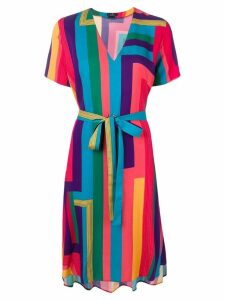 PS Paul Smith Rainbow Stripe shirt dress - Blue