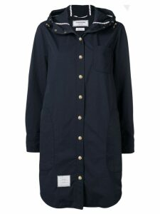 Thom Browne hooded shirt dress - Blue