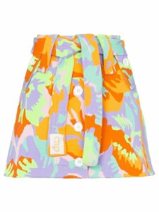 Cap Micheline belted skirt - Camo Flower Neon