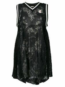 Marco De Vincenzo oversized lace top - Black