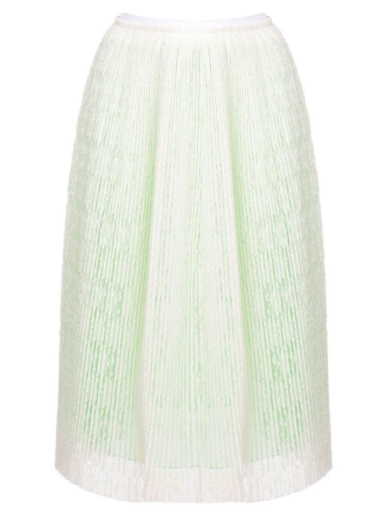 Marco De Vincenzo micro pleated lace skirt - White