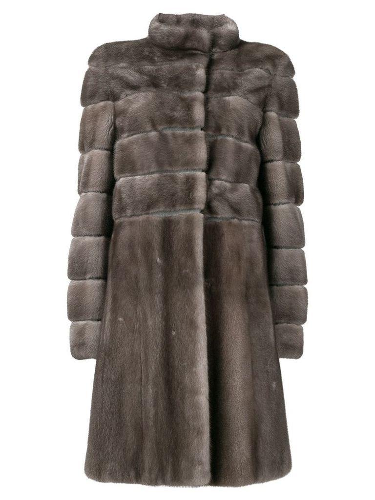 Liska Carina fur coat - Brown
