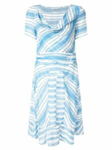 Altuzarra Lucia stripe cowl dress - Blue