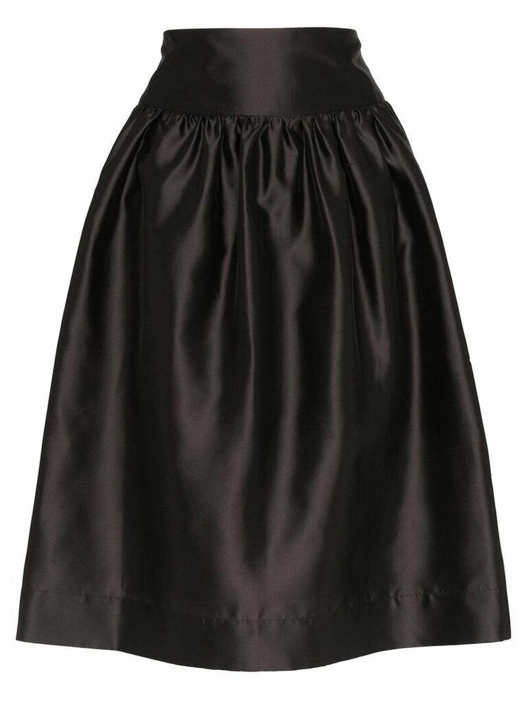 Deitas Shima silk knee-length voluminous skirt - Black