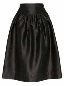 Deitas Shima silk knee-length voluminous skirt - Black