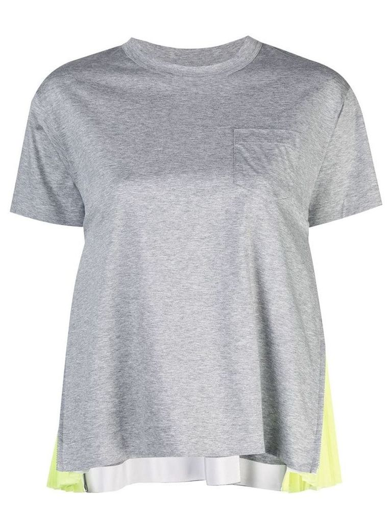 Sacai panelled T-shirt - Grey