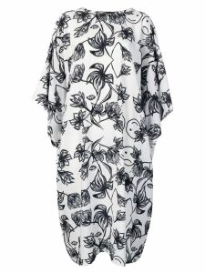 Barbara Bologna floral print dress - White