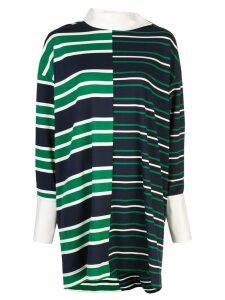 Monse striped jersey shirt dress - Blue