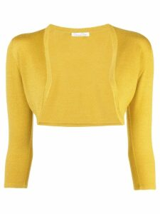 Oscar de la Renta cropped cardigan - Yellow