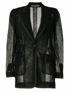 Dolce & Gabbana mesh single-breasted blazer - Black