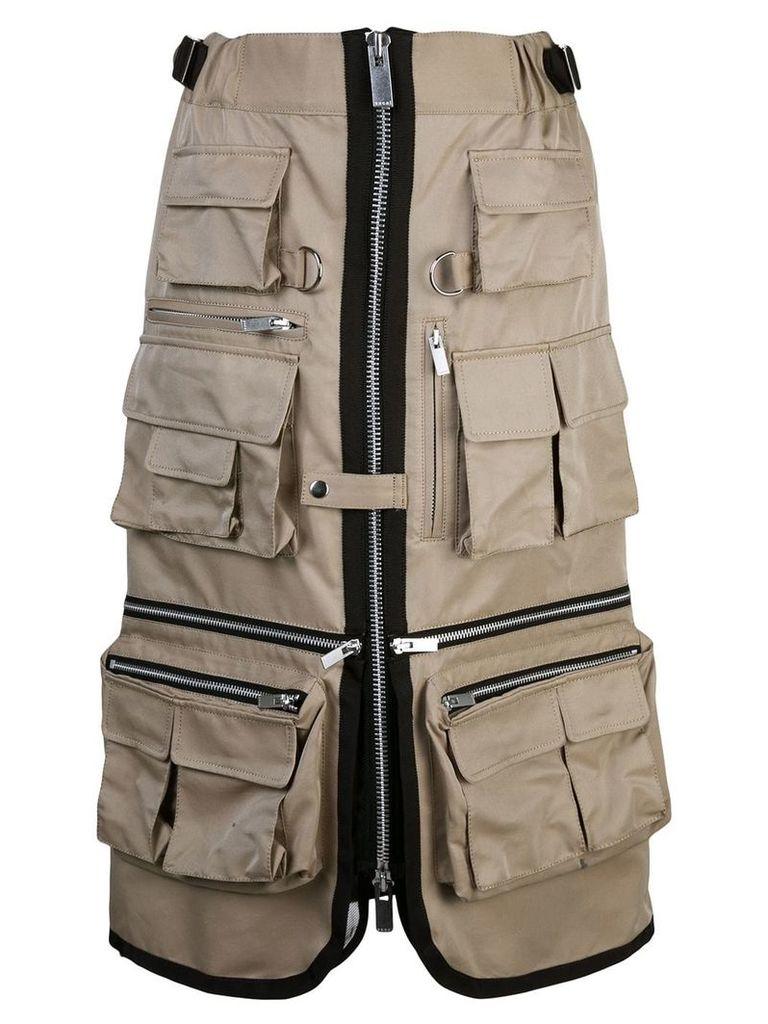 Sacai utility skirt - Brown