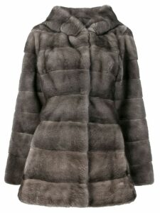 Liska Valencia fur coat - Grey