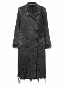 Alexander Wang double breasted denim coat - Black