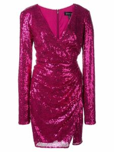 Tadashi Shoji sequin wrap mini dress - Pink
