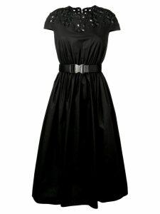 Fendi embroidery midi dress - Black