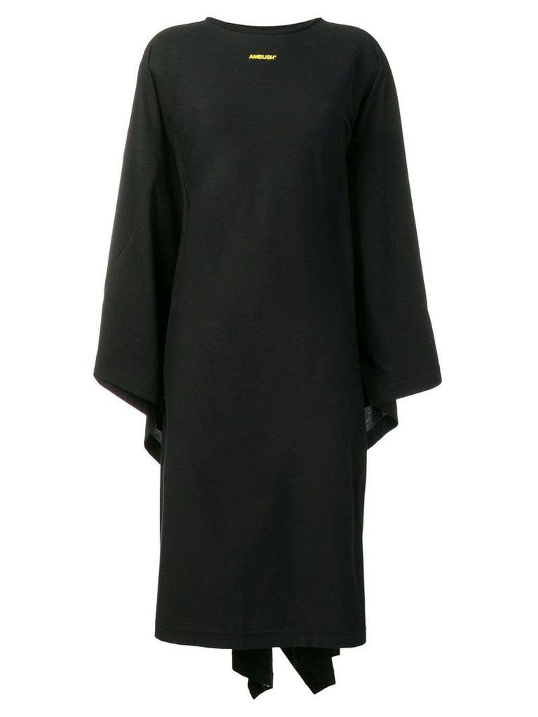 AMBUSH draped back dress - Black