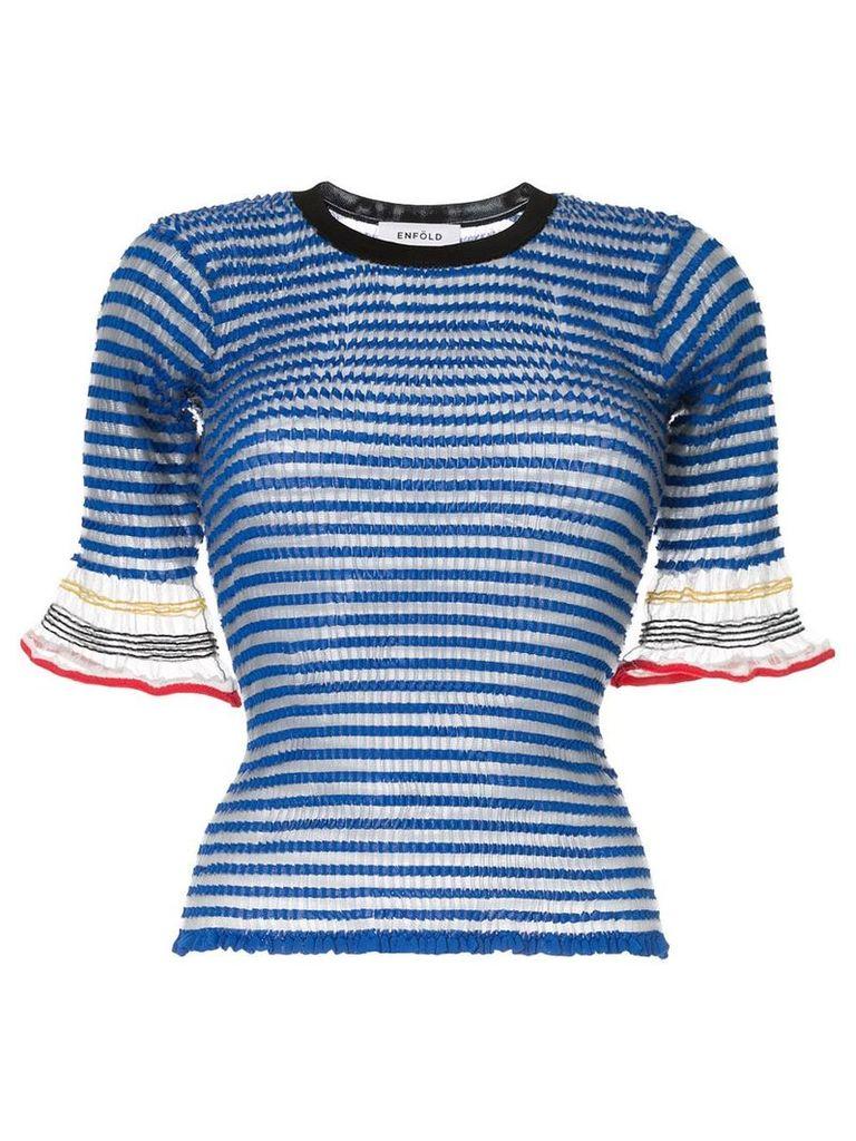 Enföld striped knit top - Grey
