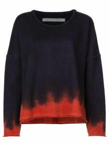 Raquel Allegra ombré print sweatshirt - Blue