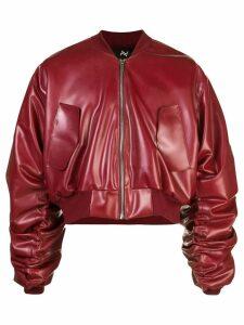Arthur Avellano deconstructed bomber jacket - Red