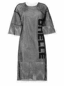 Gaelle Bonheur mesh T-shirt dress - Black