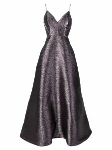 Alex Perry purple metallic evening gown