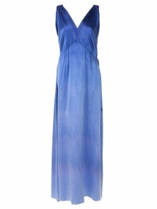 Raquel Allegra pleated evening dress - Blue