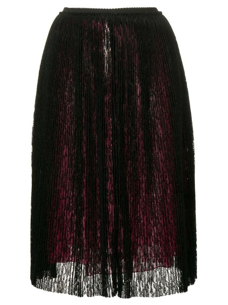 Marco De Vincenzo micro pleated lace skirt - Black