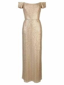 Amsale off-the-shoulder gown - Gold