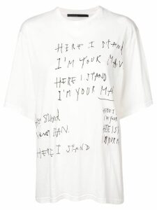 Haider Ackermann oversized slogan print T-shirt - White