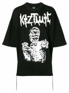 KTZ oversized graphic print T-shirt - Black