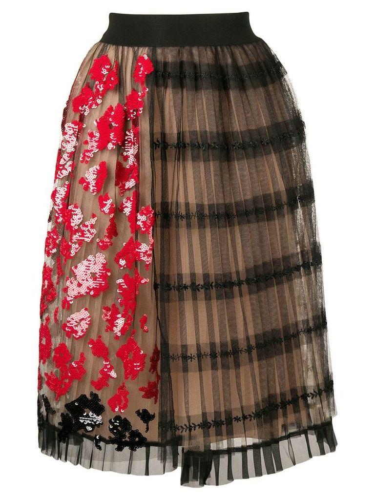 Nº21 black floral skirt