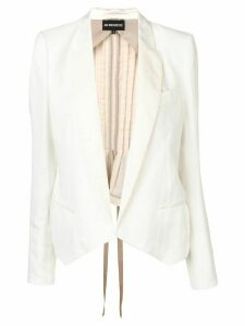 Ann Demeulemeester pleated blazer - White