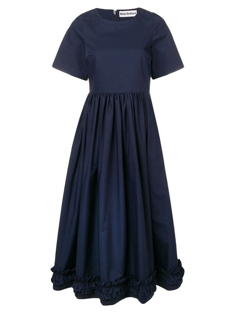 Molly Goddard ruffle hem dress - Blue