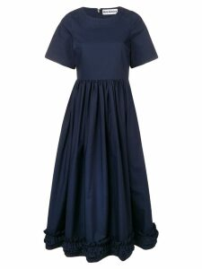 Molly Goddard ruffle hem dress - Blue