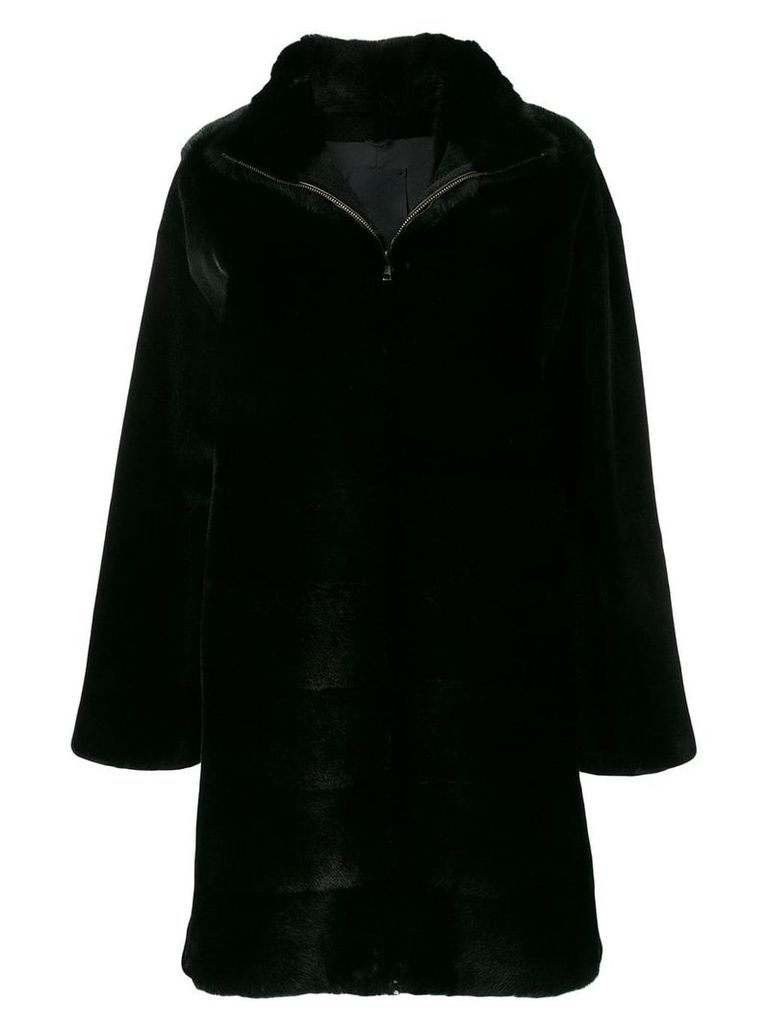 Liska Cara fur coat - Black